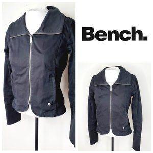 BENCH Cotton Black Moto Jacket